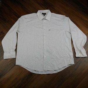 Alfani Men's Dress Shirt White Long Sleeve Dobby